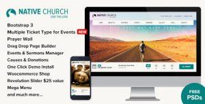 NativeChurch v2.9.9.3 – Kar Amacı Gütmeyen Siteler İçin WordPress Tema