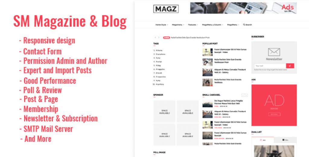 SM – Dergi Haberler & Blog Scripti