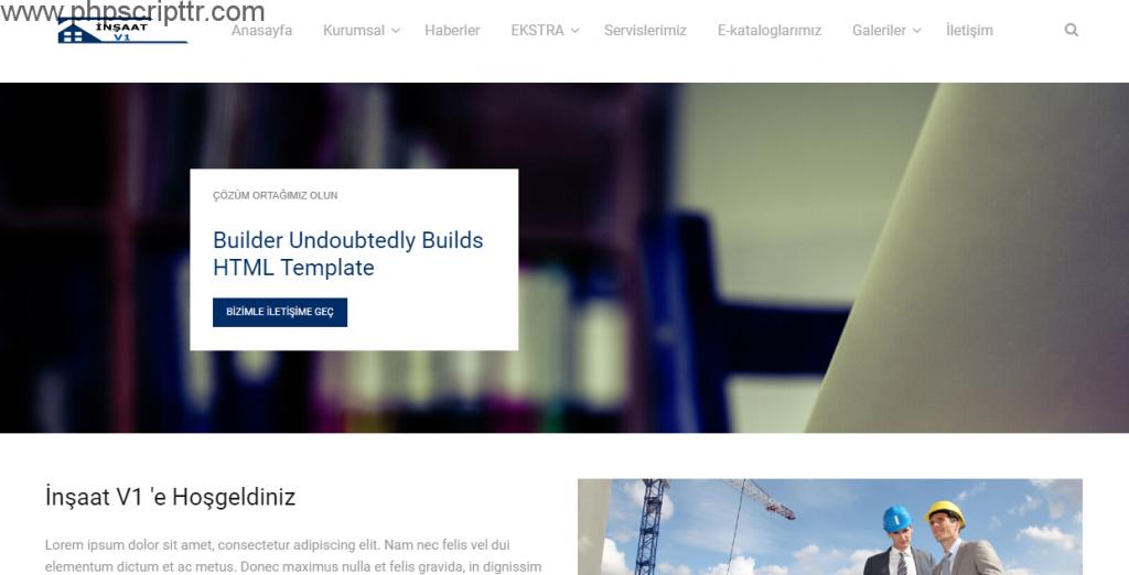 inşaat firma sitesi scripti