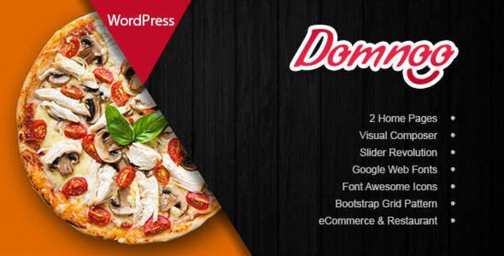 Domnoo 1.2.0 – WordPress Pizza Restaurant Teması İndir
