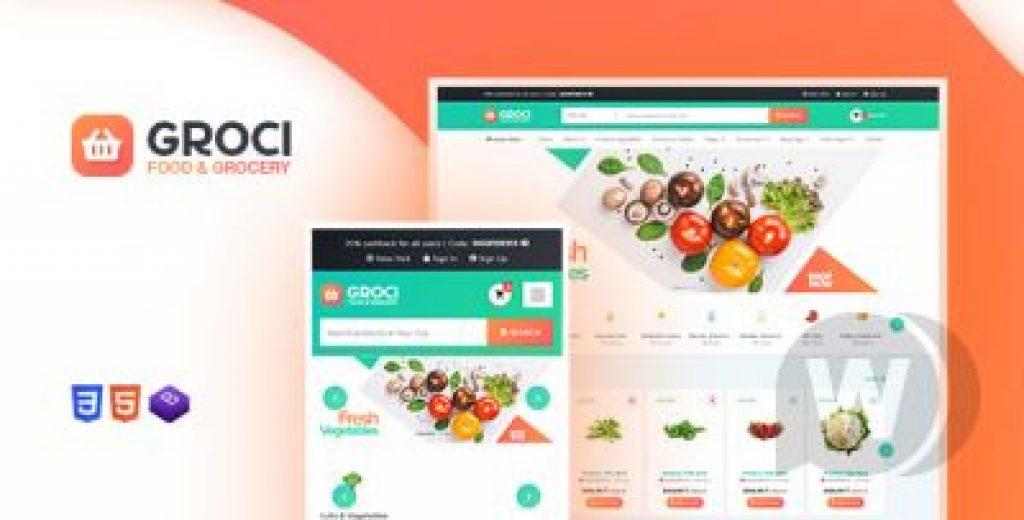 Groci v1.3 – WordPress Online Gıda Satış Teması İndir