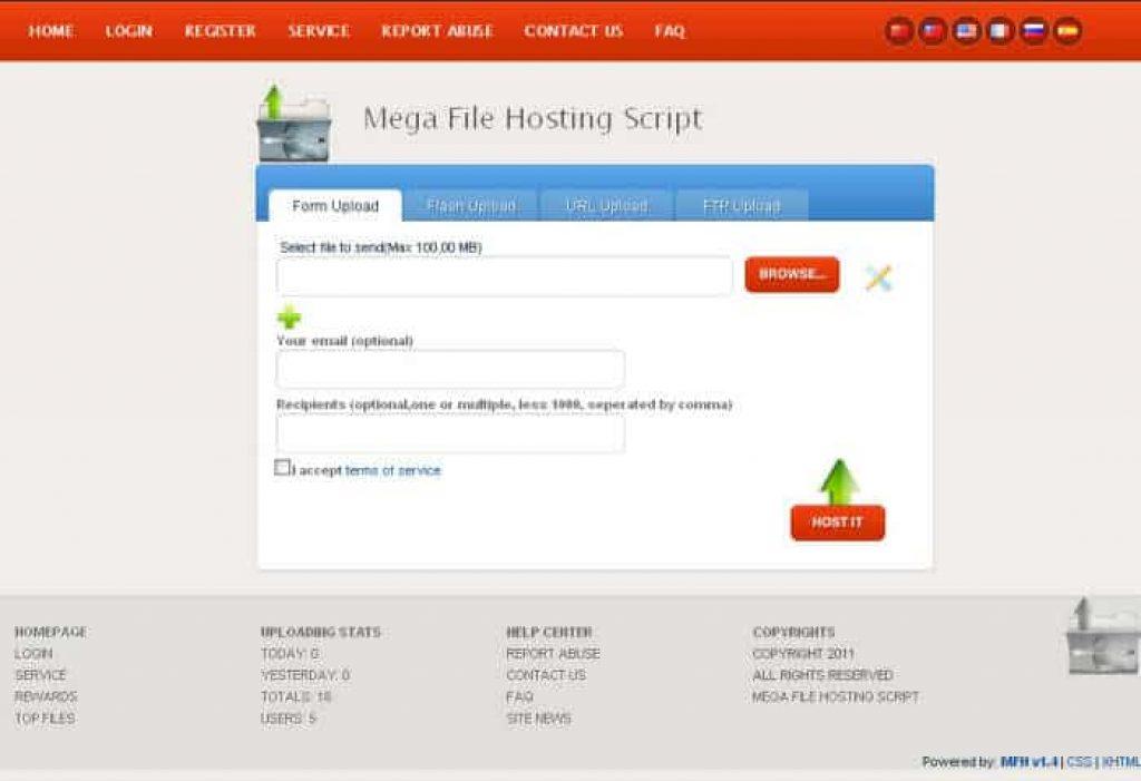 Mega File Dosya Upload Scripti İndir