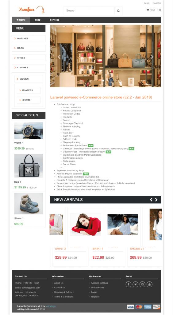 Yumefave v2.3 – Alışveriş E-Ticaret Scripti İndir